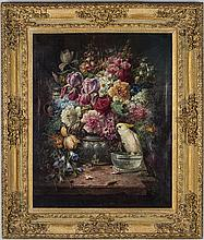 Zatzka, Hans, STILL LIFE WITH FLOWERS, oil on canvas