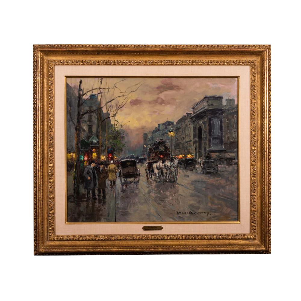 Lot 47: Edouard Corts (1882-1969) Large and Fine Oil on Canvas