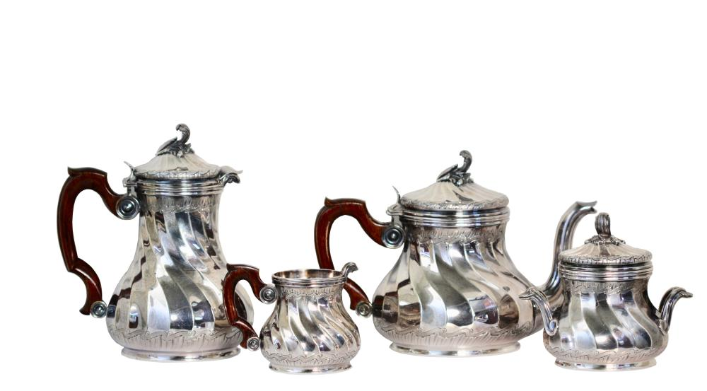 Lot 73: Tiffany & Co., Antique Silver Coffee and Tea Set