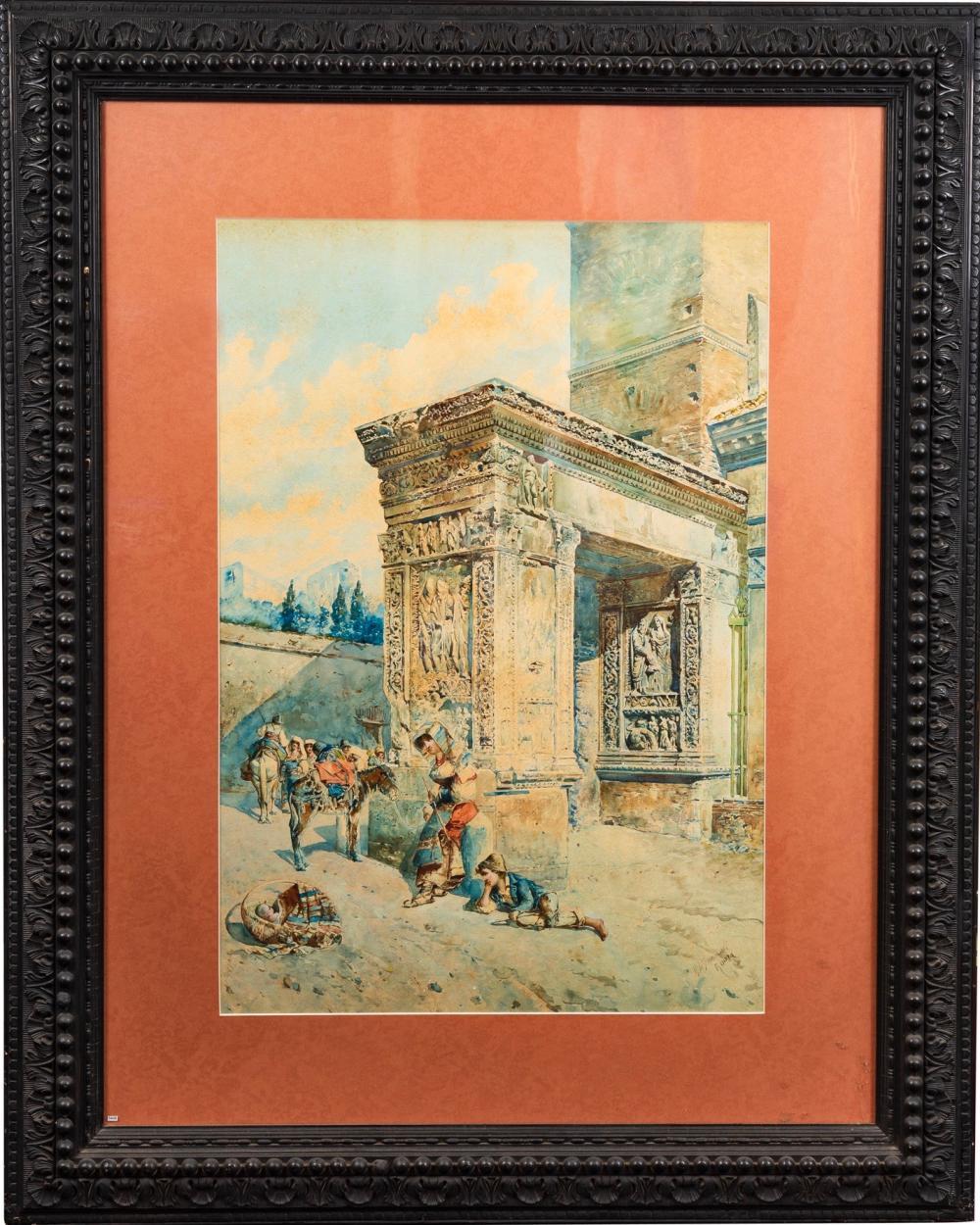 Lot 72: Mariano De Franceschi (1849-1896), watercolor