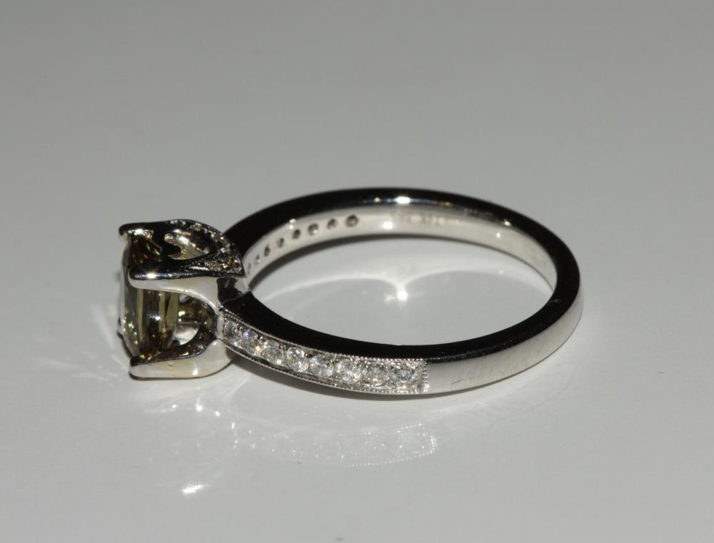 Lot 80: Alexandrite and Diamond Ring