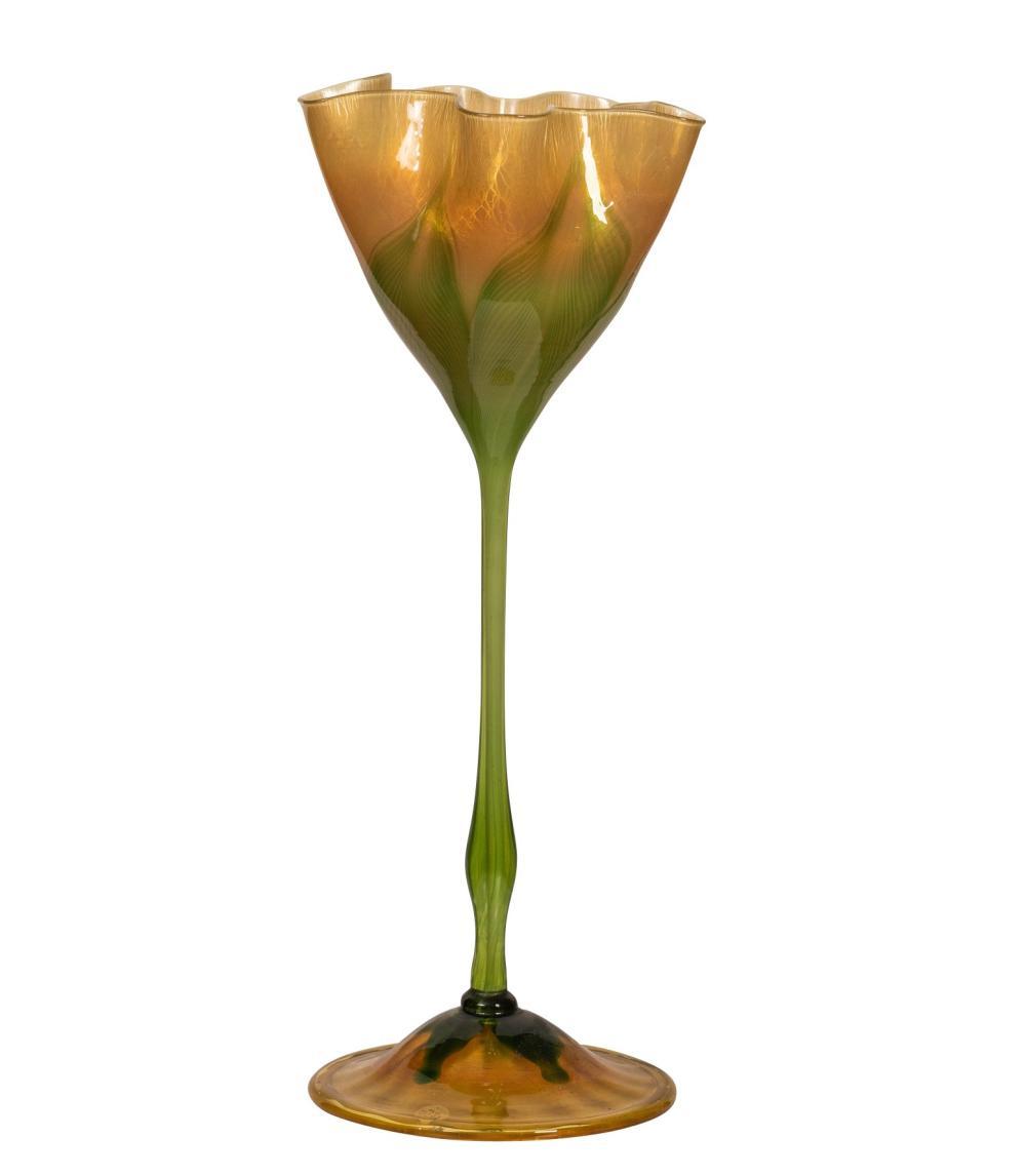 Tiffany Studios Monumental Floriform Favrile Glass Vase