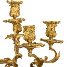 Lot 92: Very Fine Pair of French six-light Candelabra,