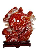 "Lot 65: A Carnelian Agate ""heavens"" Group, Chinese"