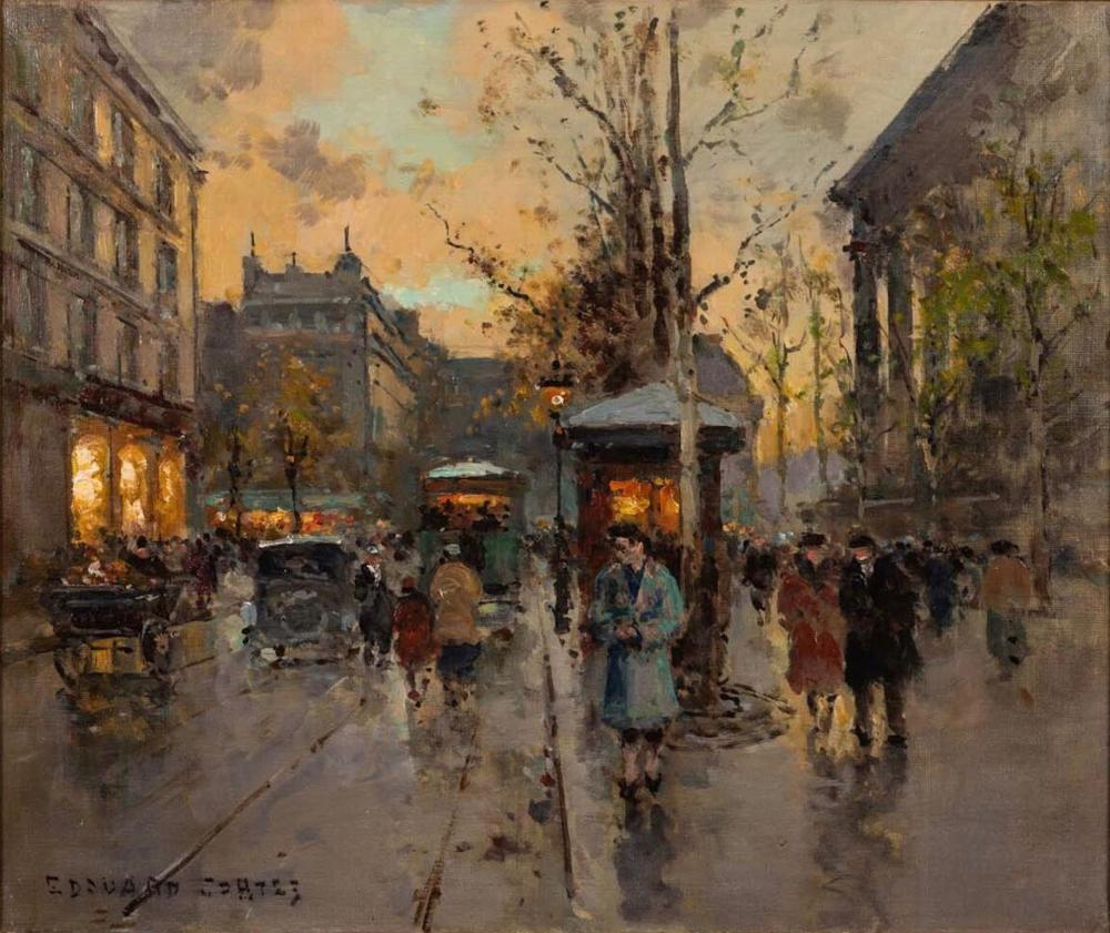Edouard Corts (1882-1969) Large and Fine Oil on Canvas