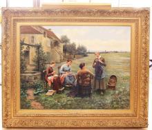 Lot 100: DANIEL RIDGWAY KNIGHT (1839-1924)