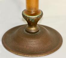 Lot 20: Tiffany Furnaces Patinated Bronze & Favrile Glass Vase