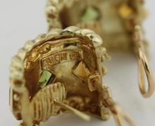Lot 30: Pair of Tourmaline and peridot Earrings