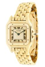 CARTIER , A GOLD SQUARE BRACELET WATCH