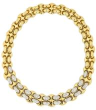Fine 18 Karat Gold and Diamond Necklace