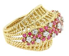18 Karat Gold , Ruby and Diamond Ring