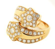 18 Karat Gold and diamond  'Star' Ring