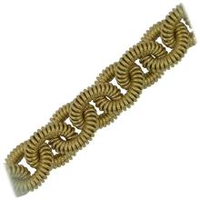 Coiled Link Gold Bracelet