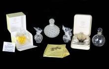 LALIQUE FRANCE , 20TH CENTURY SIX PERFUME BOTTLES