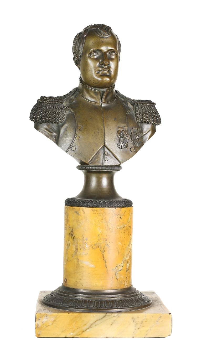 FINE BRONZE BUST OF NAPOLEON , 19TH CENTURY