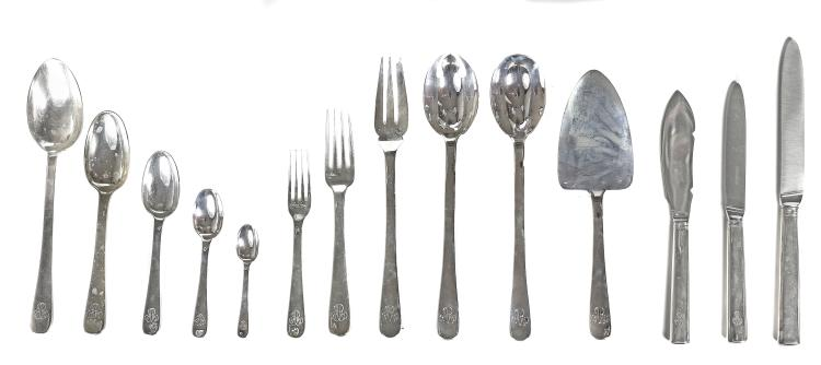 PUIFORCAT, A FRENCH SILVER FLATWARE SERVICE