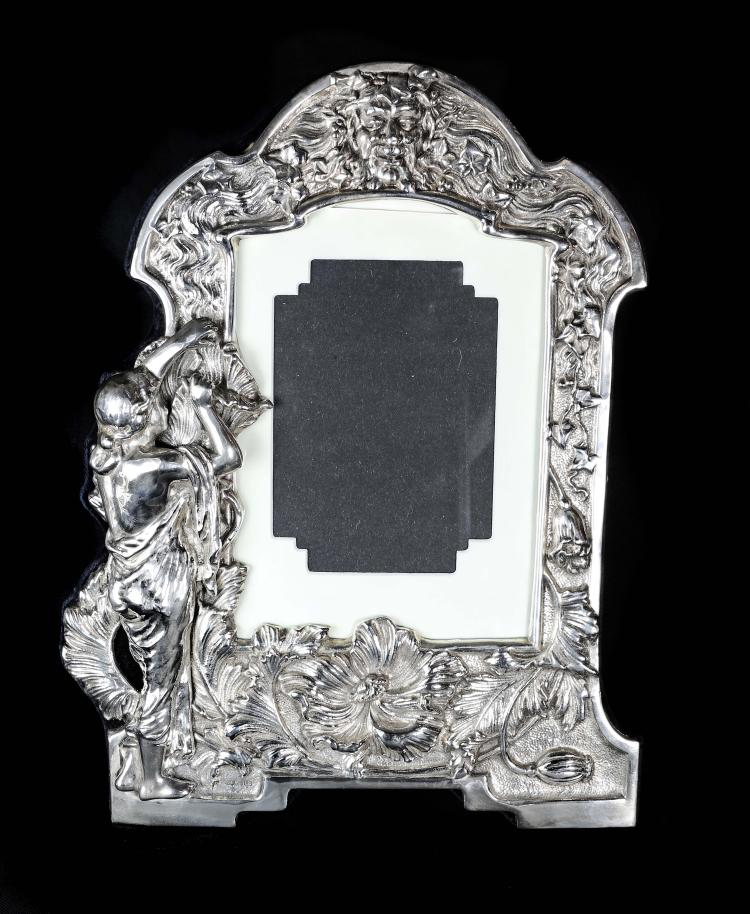 A large silver picture frame for Large a frame