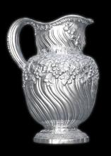 FINE TIFFANY STERLING SILVER WATER PITCHER (1891-1902)