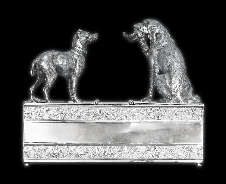 SILVER PLATED BOX AND COVER