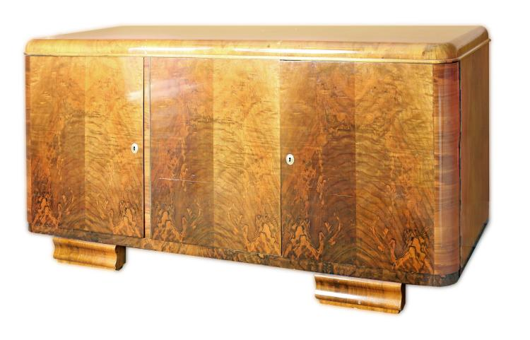 ART DECO WALNUT SIDEBOARD, CIRCA 1920