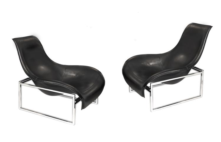 PAIR CONTEMPORARY LOUNGE CHAIRS