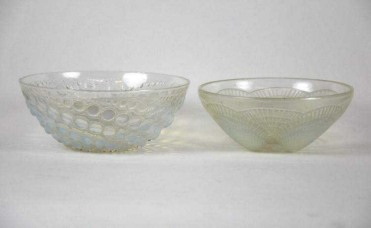 RENE LALIQUE 'COQUILLES No. 4' AND 'VOLUTES'c.1924&1934