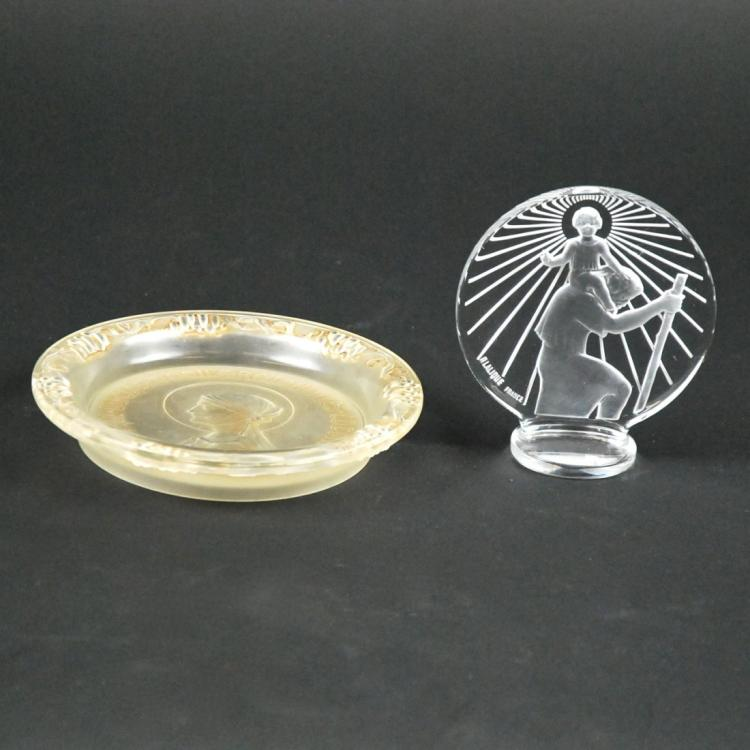 RENE LALIQUE SAINTE ODILE & SAINT-CHRISTOPHE c1936&1928