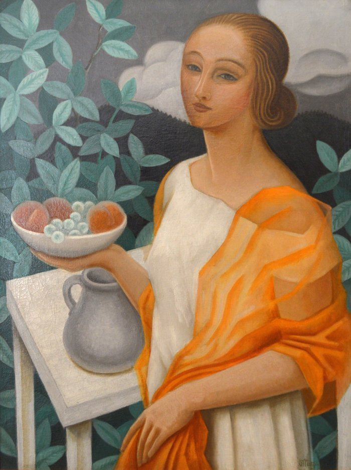 JEAN METZINGER(1883-1956),YOUNG WOMAN W/ FRUIT