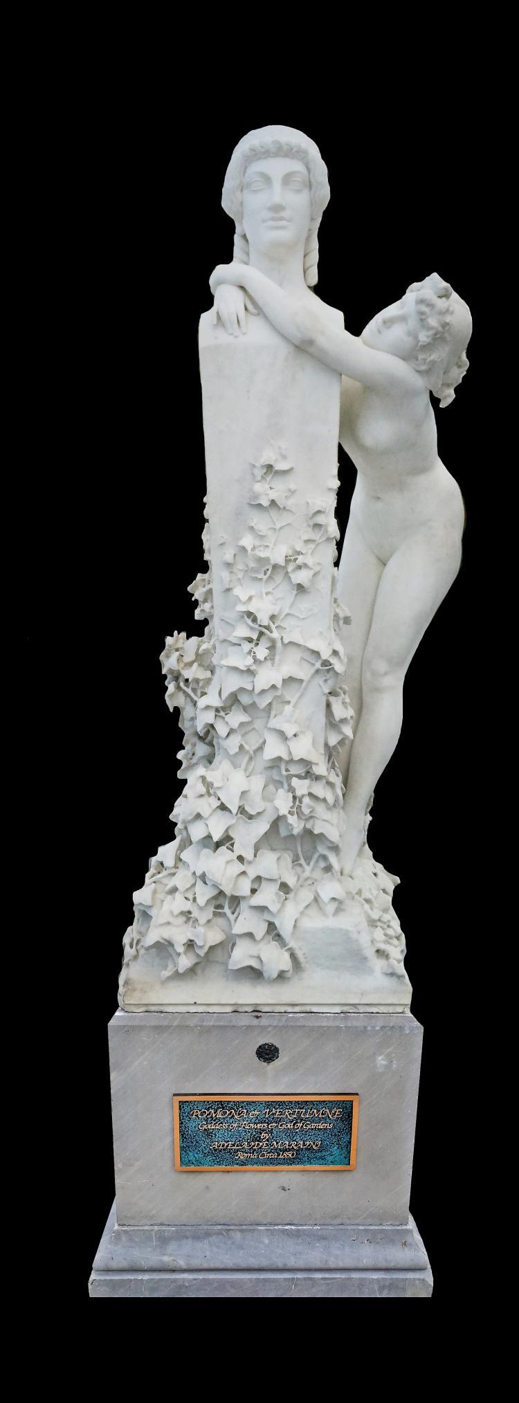 ADELAIDE MARAINI, ITALIAN MARBLE OF POMONA & HERM