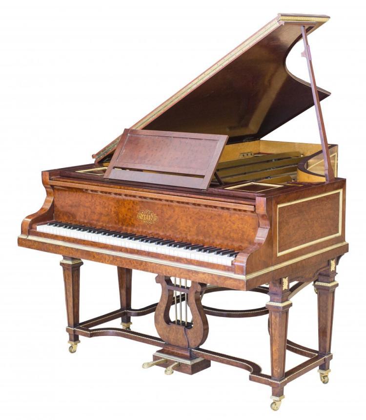 ERARD LOUIS XVI STYLE AMBOYNA GRAND PIANO