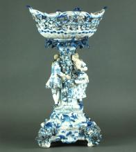 A LARGE AND FINE MEISSEN CENTERPIECE, 19TH CENTURY
