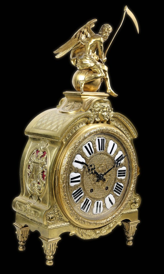 LARGE LOUIS XV STYLE NAPOLÉON III MANTLE CLOCK, PARIS