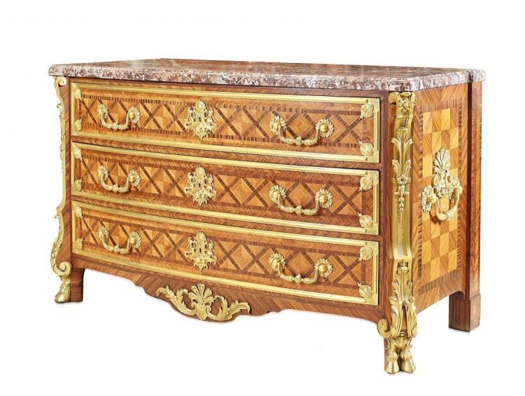 VERY FINE FRENCH ORMOLU-MOUNTED COMMODE BY SORMANI