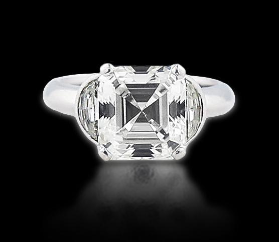 VERY FINE GIA CERTIFIED DIAMOND RING
