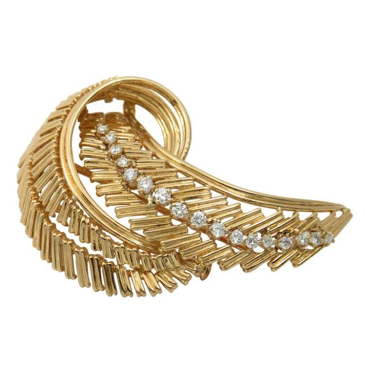 Cartier Gold and Diamond Brooch