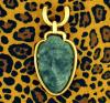 David Webb Jade and Gold Pendant with Agate Beads