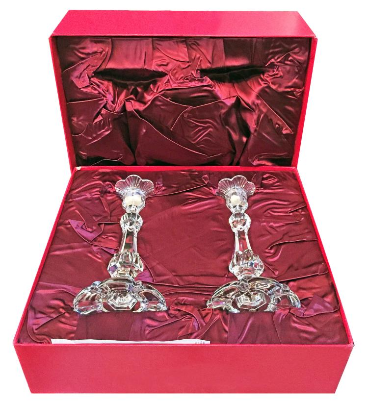 BACCARAT FRANCE LIMITED EDITION CANDLESTICKS
