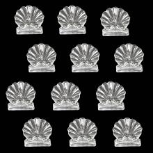 BACCARAT FRANCE, 20TH CENTURY,12 CRYSTAL CARD HOLDERS
