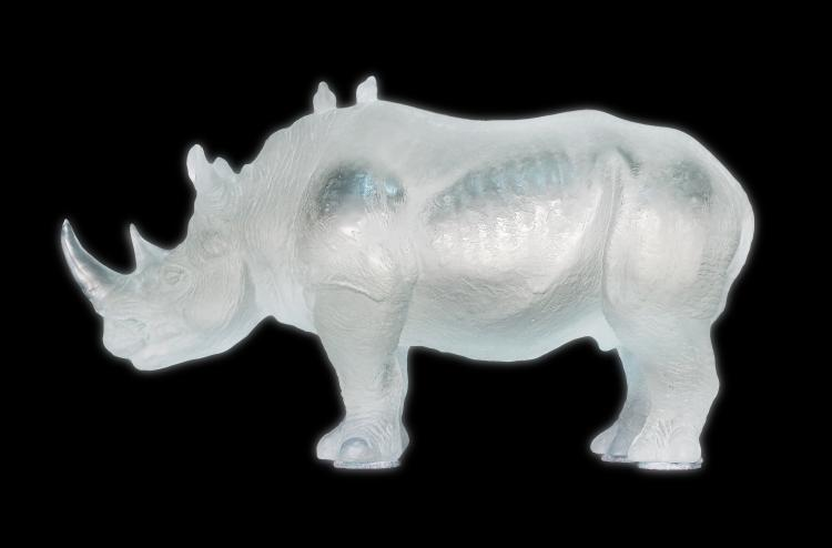 DAUM FRANCE FINE AND LARGE RHINOCEROS