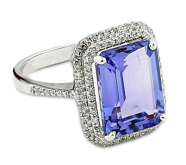 GIA CERTIFIED TANZANITE RING