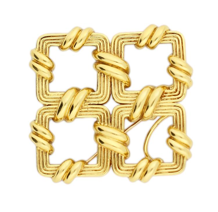 TIFFANY 18KT TWIST BROOCH
