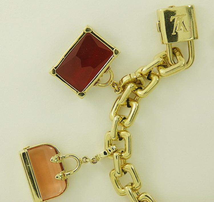 Louis Vuitton Gold Charm Bracelet