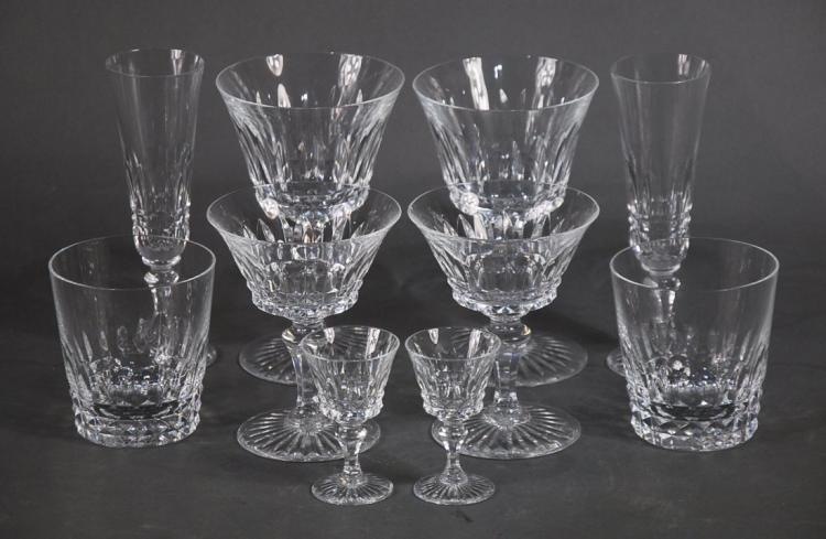 BACCARAT FRANCE 20TH CENT. SEVENTY ONE (71) DRINKS SET