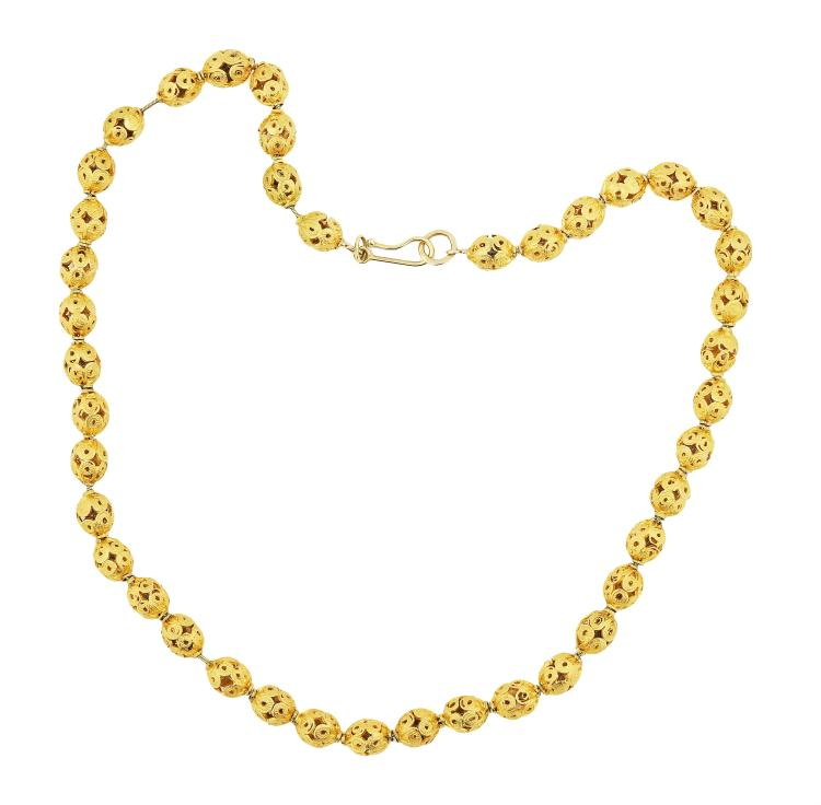 24K GOLD OPEN-WORK NECKLACE