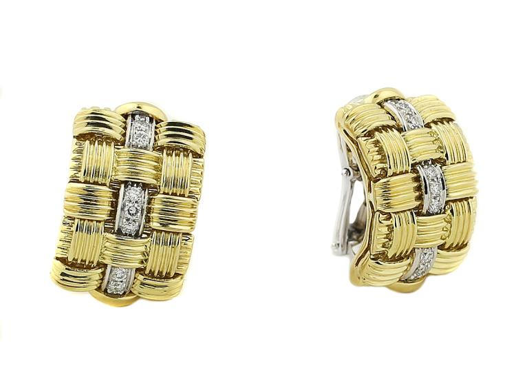 18K ROBERTO COIN EARRINGS/EAR-CLIPS