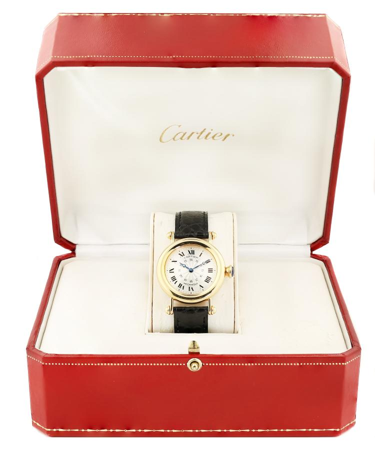 CARTIER A 18k yellow gold wristwatch DIABOLO