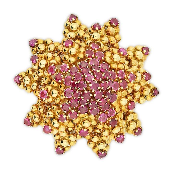 18K RUBY PIN, TIFFANY