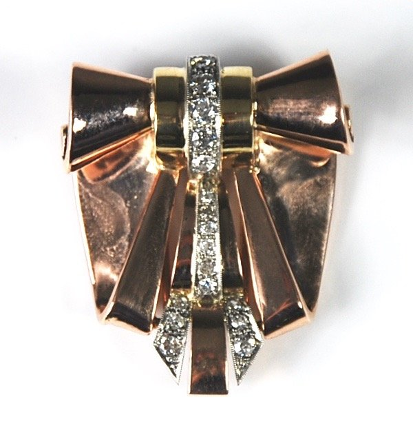 18K GOLD AND DIAMOND PIN