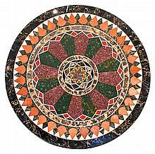TALIAN PIETRA DURA SPECIMEN MARBLE AND PORPHYRY TABLE