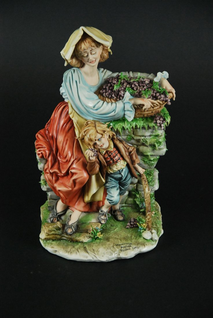 TIZIANO GALLI, VENDEMMIA, PORCELAIN GROUP